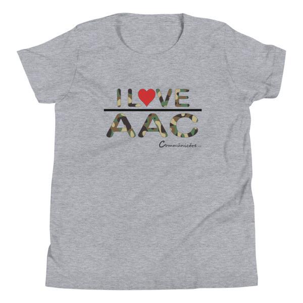 I <3 AAC: Camo Youth Short Sleeve T-Shirt