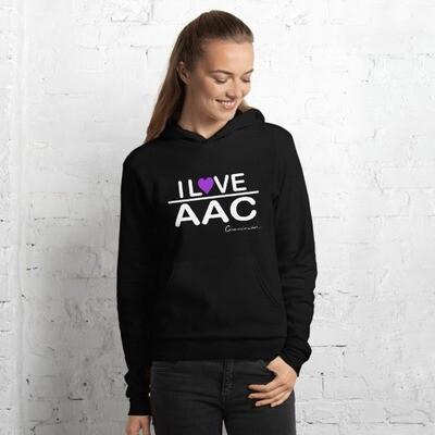 I <3 AAC: Purple Heart Unisex Hoodie