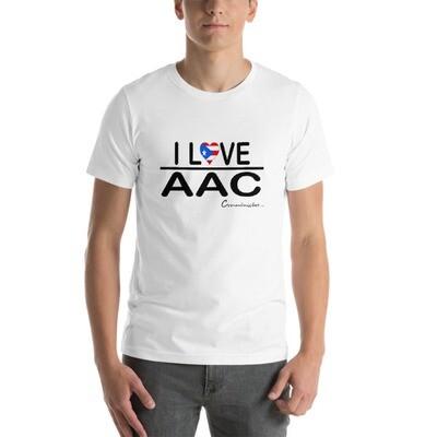 I <3 AAC: Puerto Rican Flag White Short-Sleeve Unisex T-Shirt
