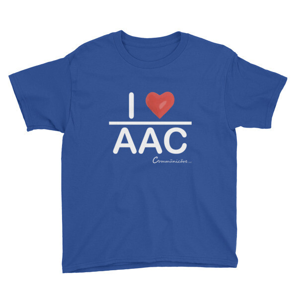 I <3 AAC: Blue/Black/Charcoal/ Pink Youth Short Sleeve T-Shirt