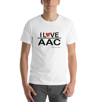 I <3 AAC (White, Silver, Teal) Short-Sleeve Unisex T-Shirt