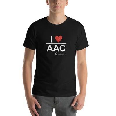 I <3 AAC (black, olive) Short-Sleeve Unisex T-Shirt