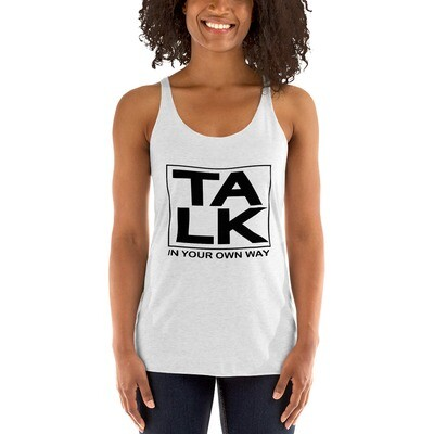 TALK Women's Racerback Tank