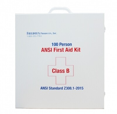 ANSI B 100 Person Metal First Aid Kit w/ Medications