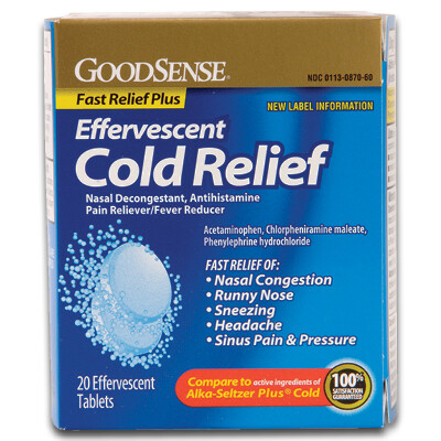 Effervescent Cold Relief Tablets (20/bx)