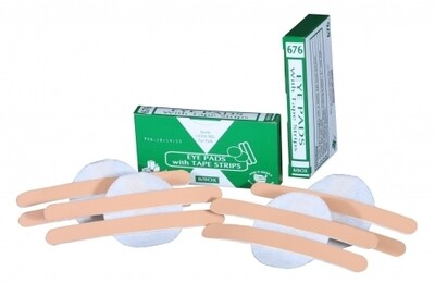 Unitized Eye Pads with Tape Strips (8/box)