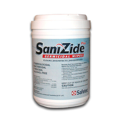 Sanizide Plus Germicidal Wipes (160/ct)