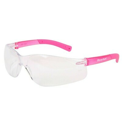 Crews BearKat Small Frame Pink Temple Safety Glasses