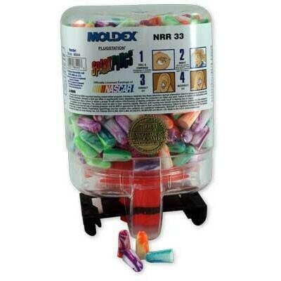 Moldex PlugStation SparkPlugs Ear Plugs - 250 Pair Dispenser