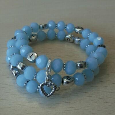 Lactobijou cristal bleu tendre