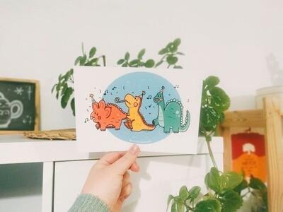 Lámina Dino Party
