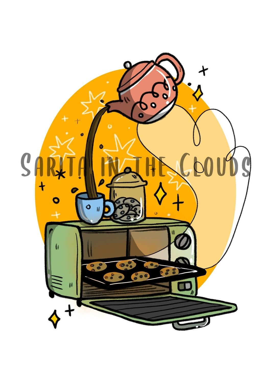 Lámina Cookies and Coffee