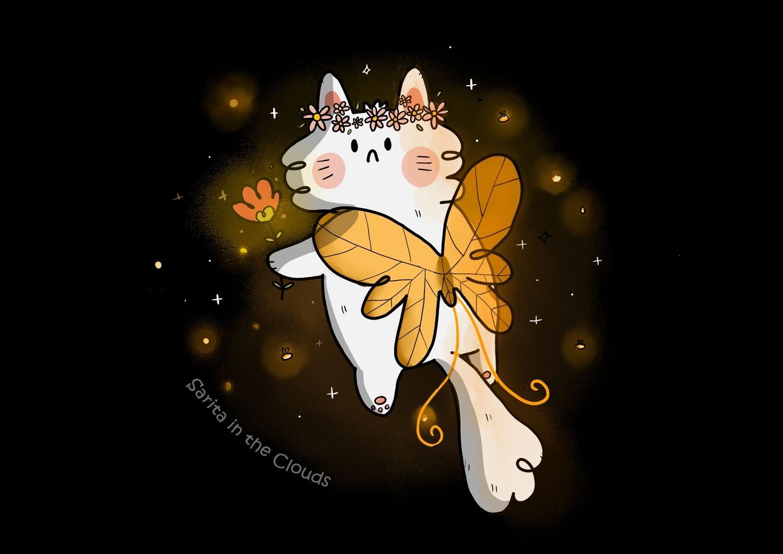 Lámina Fairy Cat