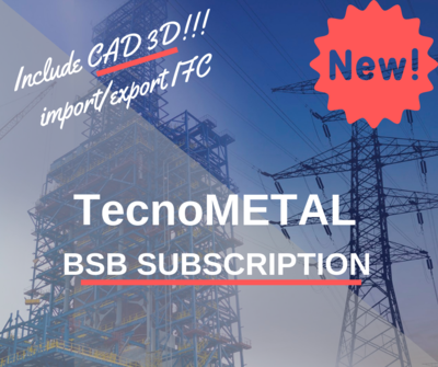 TecnoMETAL BSB COMPLETE SUBSCRIPTION 1 year