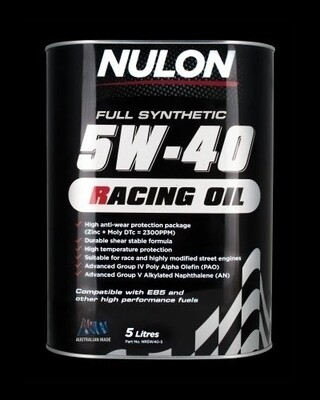 Nulon Racing Oil 5W40