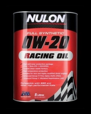 Nulon Racing Oil 0W20