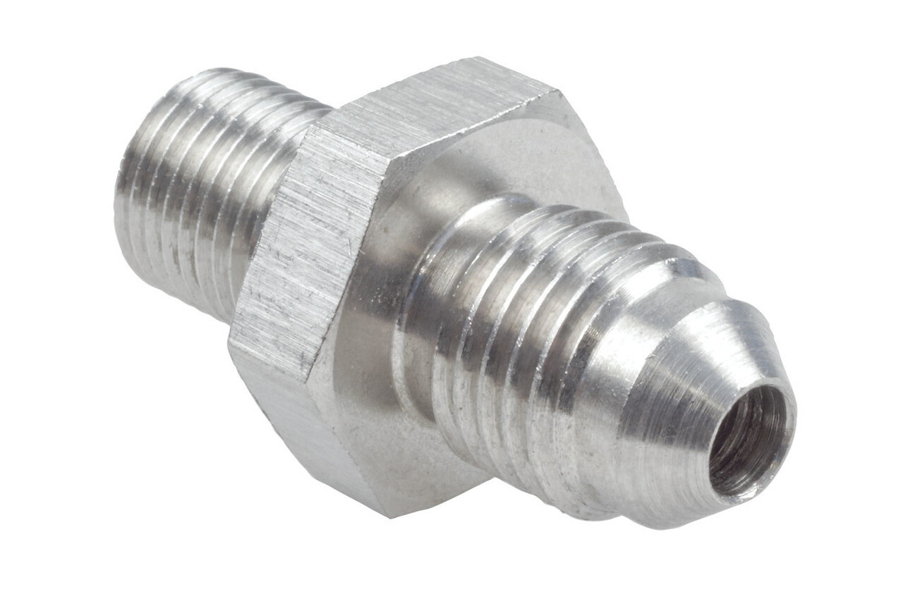 Raceworks M10x1.0 Metric Male to AN-4 Male Flare (Stainless)