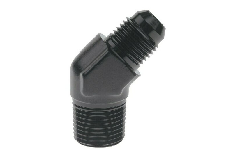 Raceworks AN-10 45 degree Male Flare to NPT 1/2″ Male