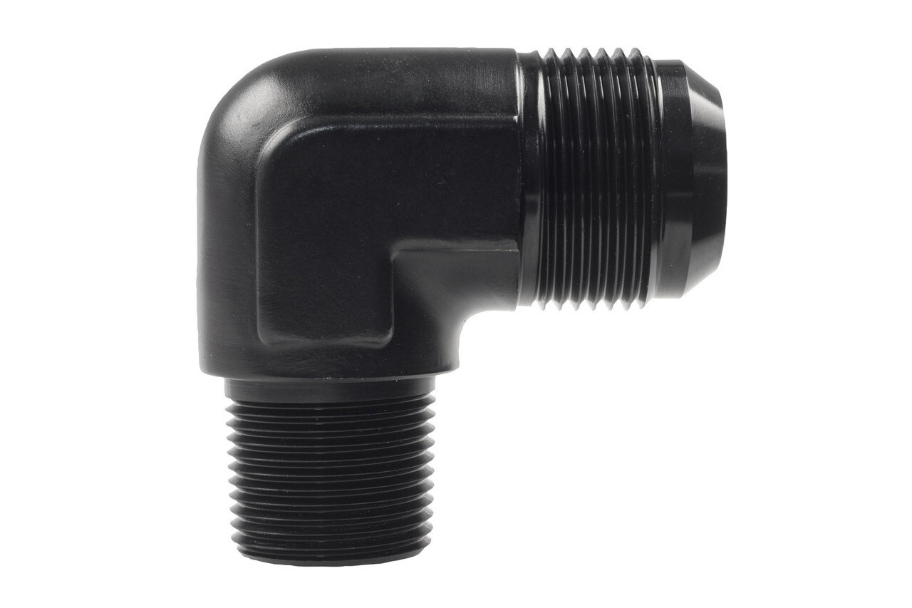 Raceworks AN-12 90 degree Male Flare to NPT 1/2″ Male