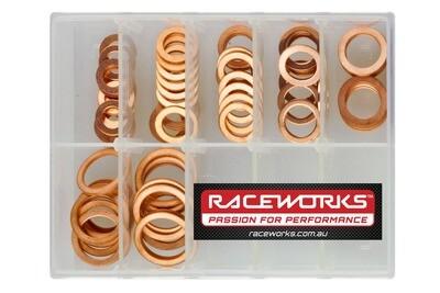 Raceworks 8mm – 16mm Copper Washer Kit PK70