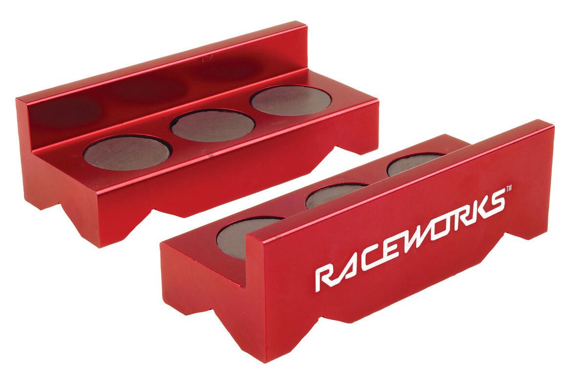 Raceworks Billet Aluminium Vice Jaws – Red