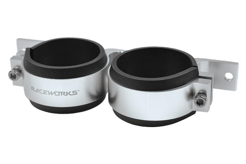 Raceworks Twin Fuel Pump Bracket 60mm – Silver