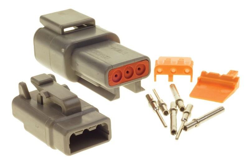 Deutsch DTM 3-Way Connector Kit