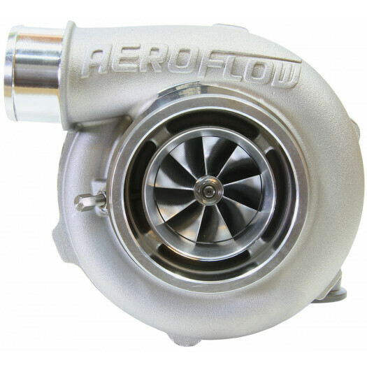 BOOSTED 5855 .83 Reverse Rotation Turbocharger, Natural Cast Finish