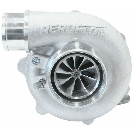 BOOSTED 5449 .72 Reverse Rotation Turbocharger 660HP, Natural Cast Finish