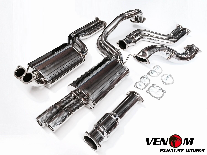 BA/BF/FG Stainless Steel VENOM Turbo Back Exhaust - Ford BARRA T