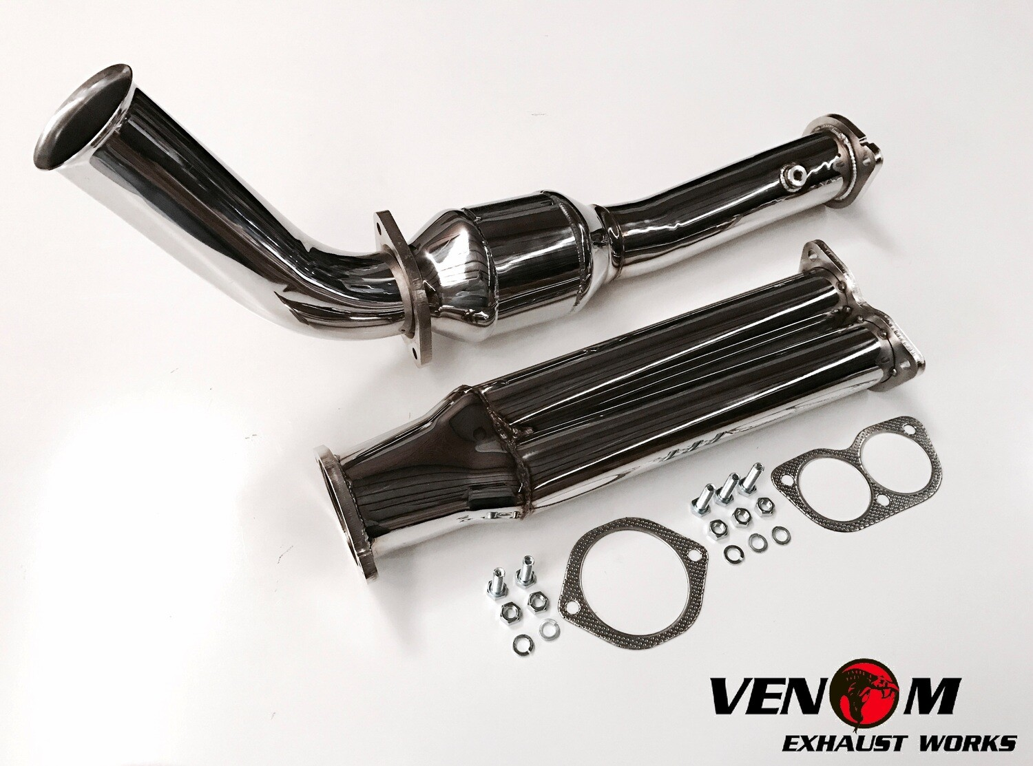 TERRITORY VENOM Bolt On Cat Pipe - Ford BARRA T