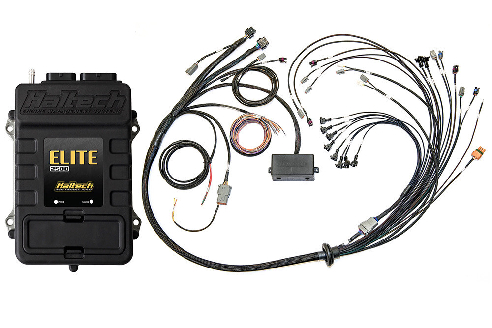 HALTECH ELITE 2500 FORD COYOTE 5.0 LATE CAM SOLENOID TERMINATED HARNESS KIT INJECTOR