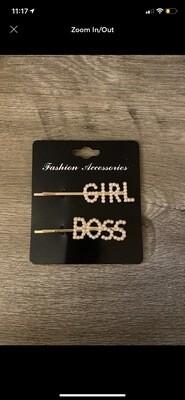 Girl Boss Hair Pins