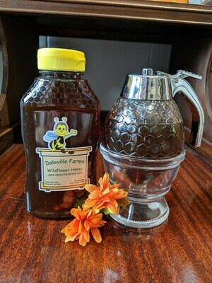 Honey Dispenser with One Pound Fresh Honey