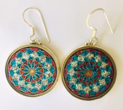 Brincos Toroide (lapis lazuli)  par