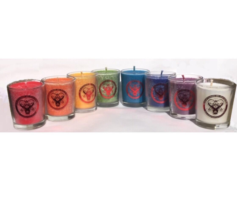 Kit De 8 Velas Naturais Rainbow