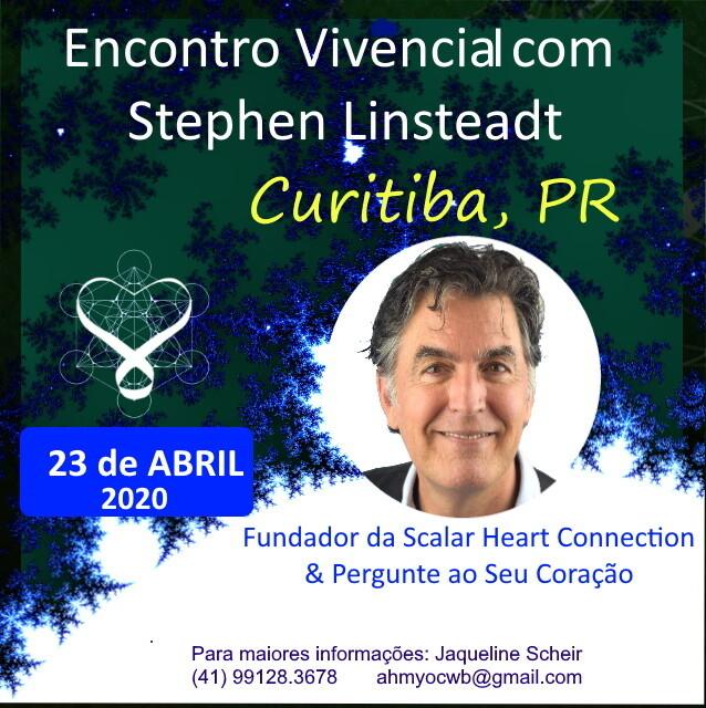 Encontro Vivencial com Stephen Linsteadt - 2020 de 19:00 - 22:30 hrs - CURITIBA, PR Evento adiado para nova data durante o segundo semestre de 2020.
