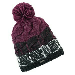 W CABLE BEANIE BERRY