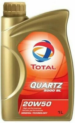 HUILE 20W50 TOTAL 1 LITRE