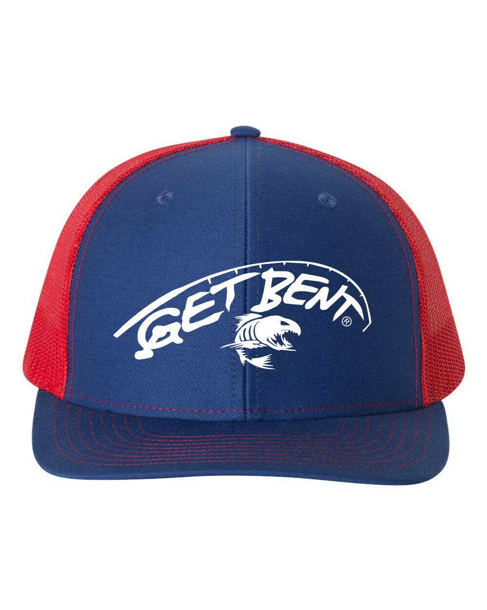 'Get Bent' - Richardson Trucker - Royal/Red