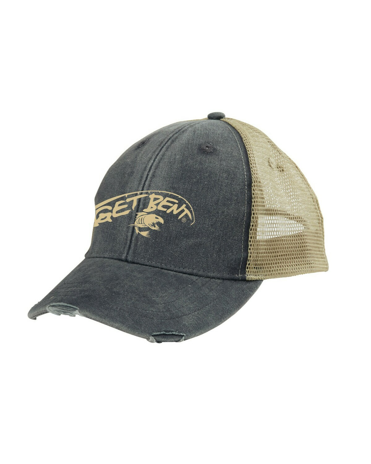 'Get Bent' Adams Hat - Black/Khaki