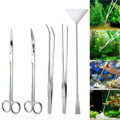 Ueetek Stainless Steel Aquascaping Tools - 5 piece set