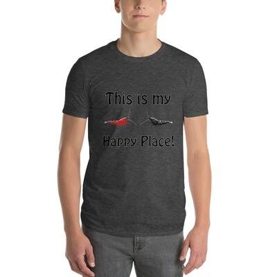 Galaxy Fishbone Happy Place T-Shirt