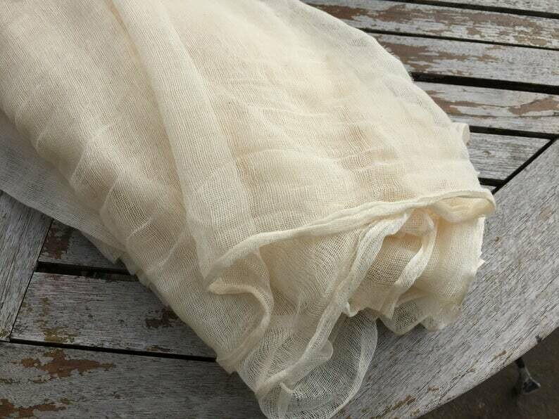 Hand Spun Hand Woven 200 Count Muslin Cotton Gauze Fabric