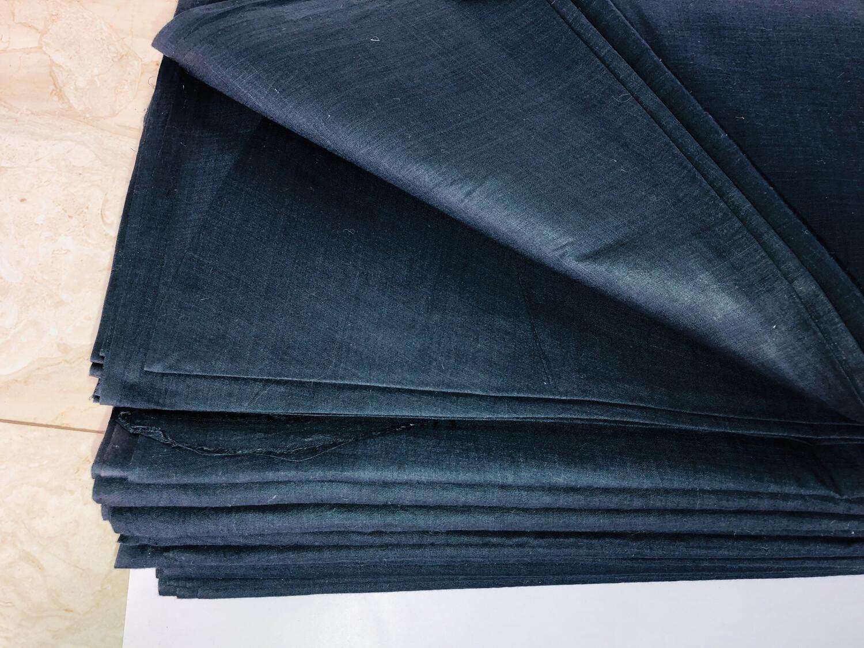 Hand Spun Hand Woven Black Cotton Fabric