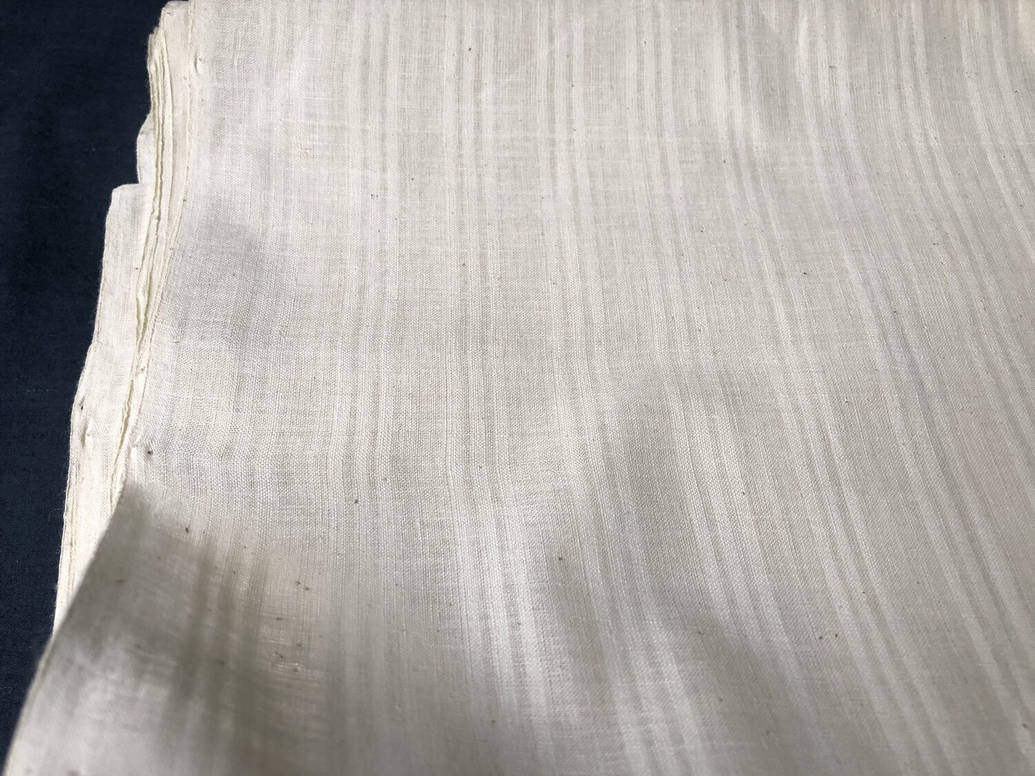 Hand Spun Hand Woven 200 Count Muslin Cotton Stripe Design Fabric