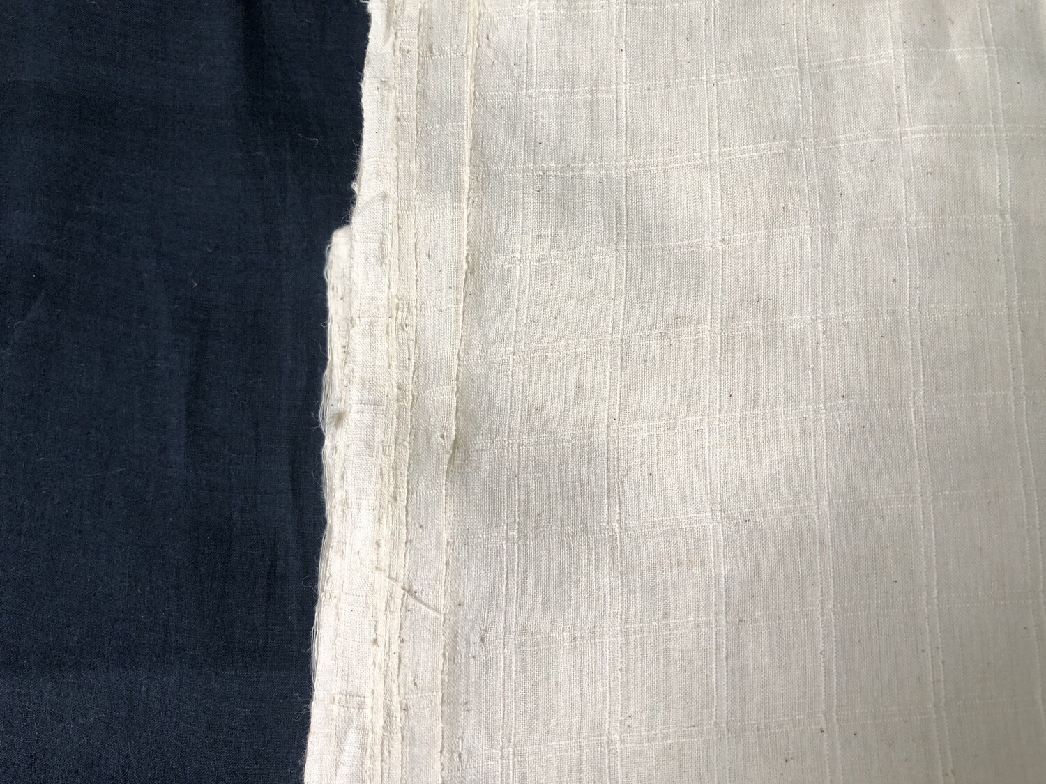 Hand Spun Hand Woven 200 Count Muslin Cotton Design  Fabric