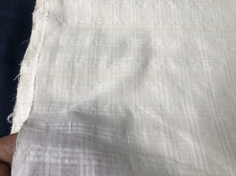 Hand Spun Hand Woven 200 Count Muslin Cotton Box Design Fabric