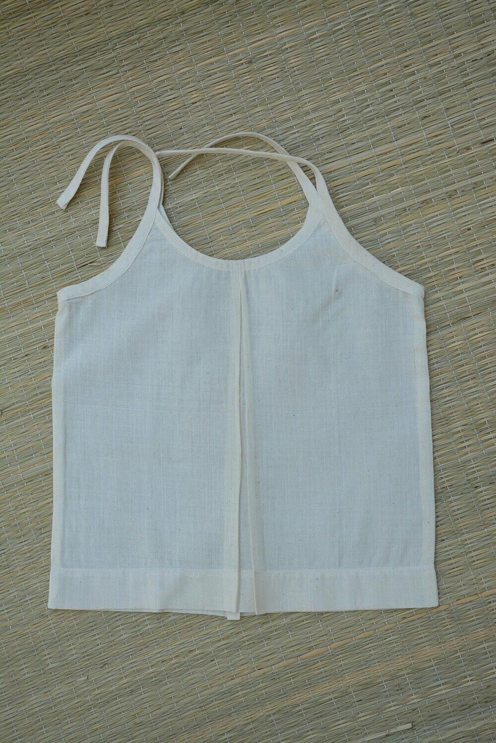 Ambara Charaka spun and Handwoven cotton muslin Jhabla for Infants (0 - 3 months) - Set of 5 .