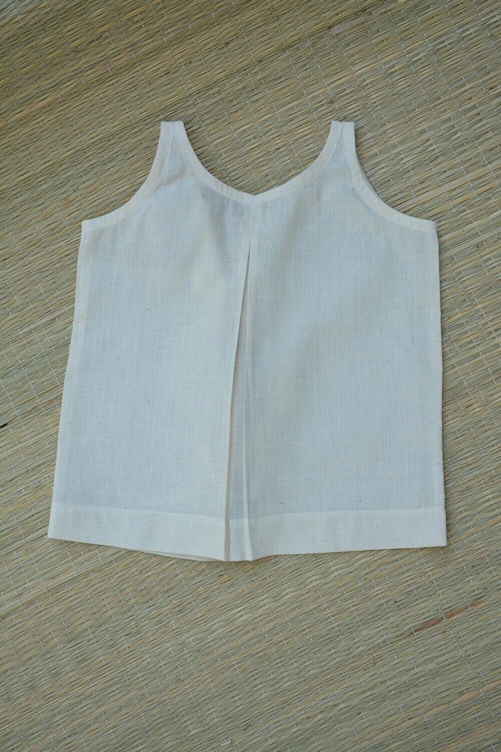 Ambara Charaka spun and Handwoven cotton muslin Jhabla for Infants (0 - 3 months) - Set of 5.